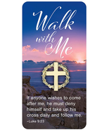 WALK WITH ME EASTER AND LENT CROWN OF THORNS LAPEL PIN WITH CARD - $18.80
