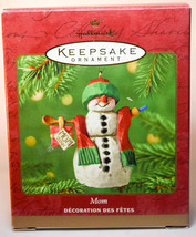 Hallmark: Mom - 2001 - Snowman - Classic Keepsake Ornament - $10.24