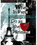 Paris Wall Art Quote, Eiffel Tower, Photo Print, Wine Decor Word Art, Pa... - $15.88+