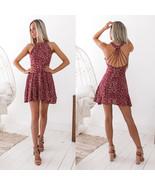 Summer Women's Boho Floral Beach  Short Mini Dress(L) - $23.68