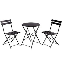 Grand Patio Premium Steel Patio Bistro Set, Folding Outdoor Patio (Black) - $143.03