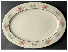 "Sachet by Lenox Scalloped, Floral Rim, Platinum Ring 15"" Oval Serving Pl... - $65.44"