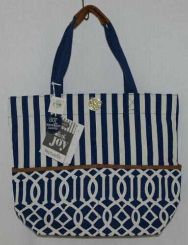 Mudpie Bundle Of Joy Product Number 8613072NL Large Diaper Bag Blue White Stripe