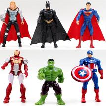 1pcs superhero Avengers Iron Man Hulk Captain America Superman Batman Action Fig - $3.28+