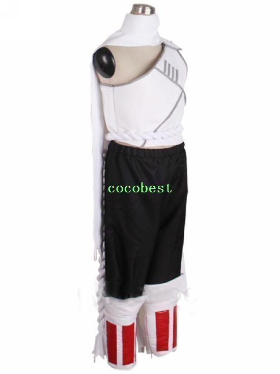Naruto Killer Bee  KillerB Cosplay Costume Waistcoat Trousers  Wrist Bands Scarf