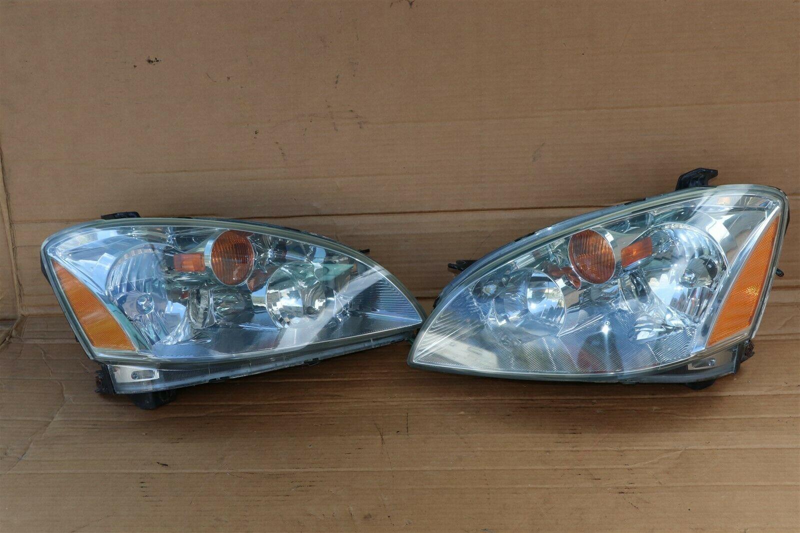 03-04 Nissan Altima Xenon HID Headlight Head Light Lamps Set L&R - POLISHED