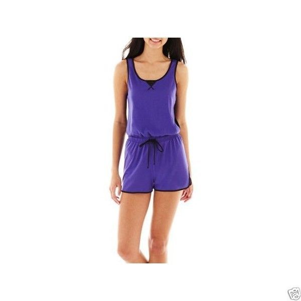 City Streets Sleeveless Romper Size S New Electric Violet Black - $9.99