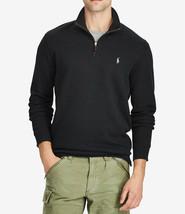 New Mens Polo Ralph Lauren Quarter Zip Black Pullover Sweater L - $41.57