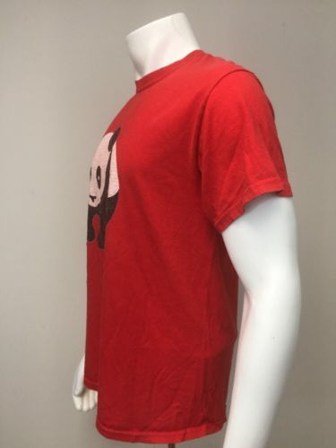 Panda T Shirt Red Adult M Medium Tee Classic Animal Top