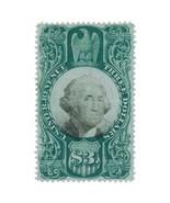 1872 R147 $3 U.S. Internal Revenue, Third Issue, XF, Washington, Green &... - $84.99