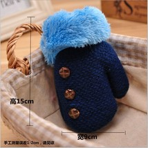 Children's Winter Knitted Gloves Button Mittens Thick Plush Cuffs Fur Wo... - $11.99+