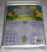 """Disney Fairies Tinkerbell """"Silky Tink"""" Standard Pillow Sham 1-Pack, Purple - $9.77"""