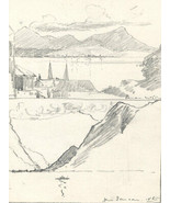 Marcus Adams - Early 20th Century Graphite Drawing, From Samson - $16.12