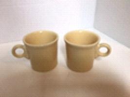 Fiestaware Ivory Coffee Mugs Lot of 2 Cup ring handle Fiesta Homer Laughlin - $9.99