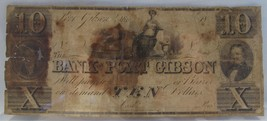 1830s-60s $10 Port Gibson Mississippi Obsolete Bank Note Civil War PC-30 - $76.37