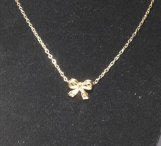 USA Women lady Fashion Chic New Gold Plated Necklace Bowknot Chain Jewel... - $8.90