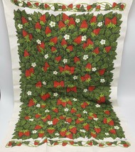 Strawberry Linen Tea Kitchen Towel Lois Long Kay Dee USA - $12.97