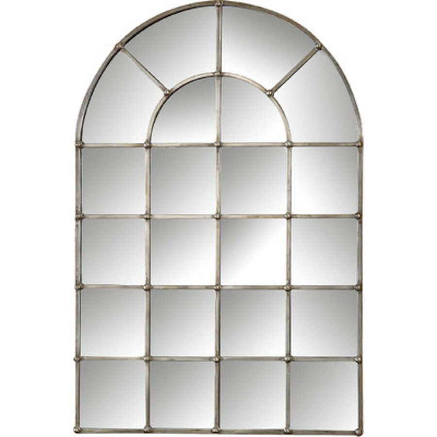 Restoration Hardware Replica Palladian Arched Window Pane Wall Floor Mirror  - $429.89