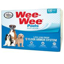 """Four Paws Wee-Wee Pads 100 pack box White 22"""" x 23"""" x 0.1"""" - $31.49"""