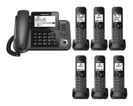 Panasonic KX-TGF383M Link2Cell Bluetooth 1 Corded 6 Cordless Phones w/ A... - $261.80