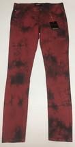 Forever 21 Denim Skinny Jeans Sz 27 x 31 Red & Black Tie Dyed  image 2