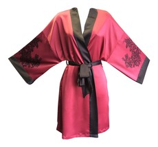 Womens Sexy Cute Thin Red or Cream Short Japanese Kimono Styled Robe Gown / Wrap - $24.99