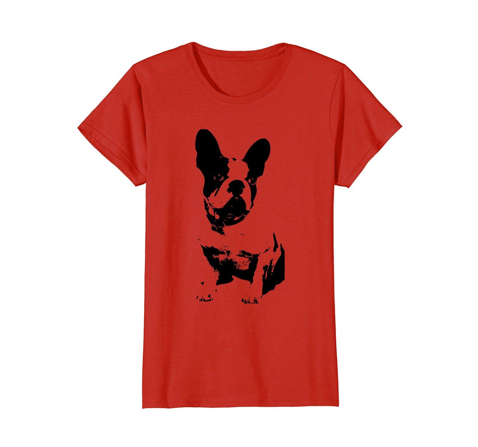 Boston Terrier Shirt For Small Dog Lovers - Boston Dog Art