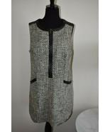 Kirna Zabete For Target Faux Leather Knit Shift Dress Size M Medium - $23.54