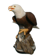 American Bald Eagle with Bass sculpture - $147.40
