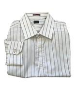 "Paul Smith LONDON blue stripe LS Shirt Size 16.5 / 42 p2p 22.5"" - $172.02"