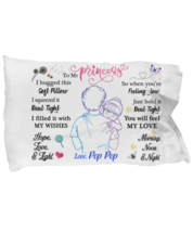 To My Granddaughter Pillowcase Gift From Pop Pop Pillow case Covering For  - $23.99