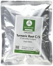 Naturevibe Botanicals Organic Turmeric 16 oz Cut and Sifted (1lb), for B... - $13.26