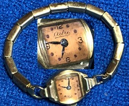 Vintage Astra Swiss 17 Jewel Ladies Wristwatch Les Fils de Paul Schwarz-... - $22.49