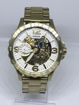 FOSSIL ME3150 NATE GOLD SKELETON AUTOMATIC MEN'S WATCH MSRP $315 - $175.00