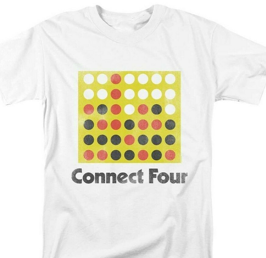 Connect Four T-shirt classic board game retro 70s 80s toys graphic printed tee