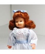 Dressed Little Girl Blue Stripe Caco 1187 Flexible Dollhouse Miniature - $28.31