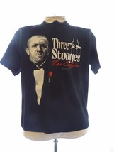 Three Stooges Black T-Shirt L Curly Don Curly'one Godfather 2008 - $18.52