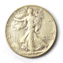 1938 D 50c Walking Liberty Half Dollar Rare Denver Low Mintage - $79.19