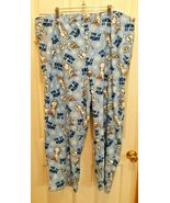 Disney Frozen OLAF PJ pants Womens 3X Snow It All Fleece Lounge Pajama Blue - $12.74