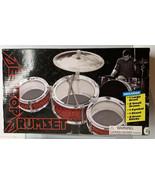 7 PCS Desktop Drum Set Drums Cymbal Stand & Drumsticks - Red - $13.76
