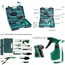 Akarden Gardening Tools Set, 10 Pieces Garden Kit, Including Digging... - $32.17