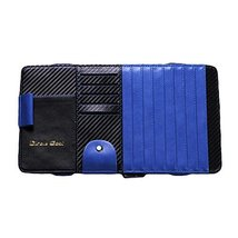 Carbon Fiber Multi-functions CD Visor CD Holder/organizer for Car (Black/Blue)