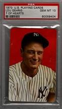 LOU GEHRIG 1973 U.S. Playing cards 7 of Hearts PSA 10 GEM MT - Baseball ... - $73.26