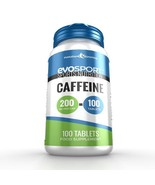EvoSport Caffeine Tablets for Focus & Stamina 100 Tablets - $9.09