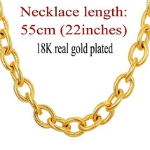 U7 Kpop Statement Necklace Black Gun Gold Color Stainless Steel 13MM Cha... - $30.98