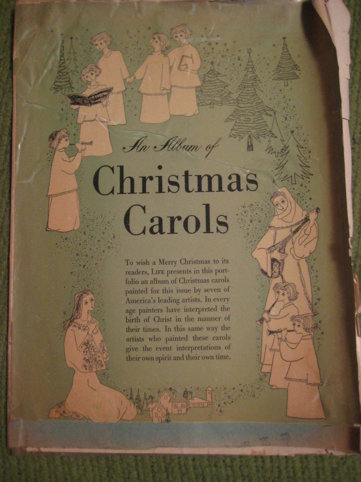 Original Vintage ca 1960 LIFE Album of CHRISTMAS CAROLS Song Book 12 pgs
