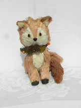 Pier 1 Imports Bristle Straw Fall or Autumn Holiday Home Décor Red Fox #1 - $14.99