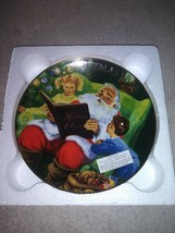 """2006 Avon """"Storytime with Santa"""" Christmas Collector Plate In Original Box - $18.99"""