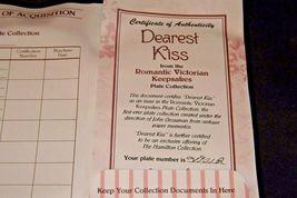 "1992 ""Dearest Kiss"" Commemorative Plate by John Grossman AA20-CP2311 Vintage Rom image 6"