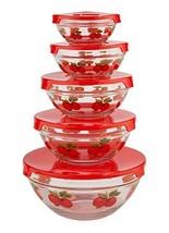 WalterDrake Red Apples Glass Bowls - Set of 5 - $13.26
